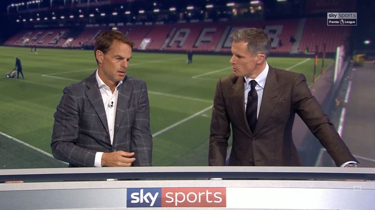 Jamie Carragher was joined on Monday Night Football by Fran de Boer