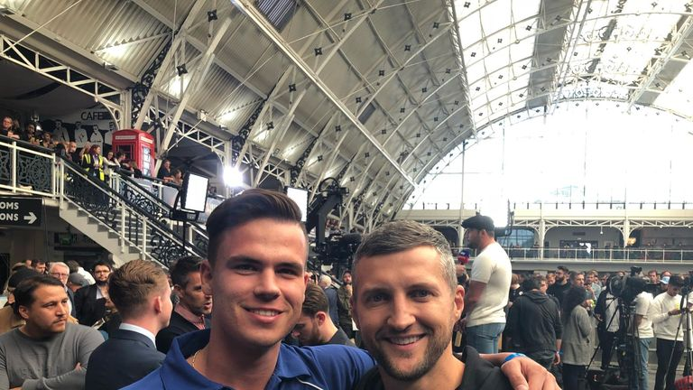 Daniel enjoyed hanging out with Carl Froch at Wembley
