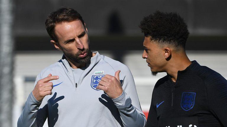 Gareth Southgate is set to start Jadon Sancho against the USA at Wembley