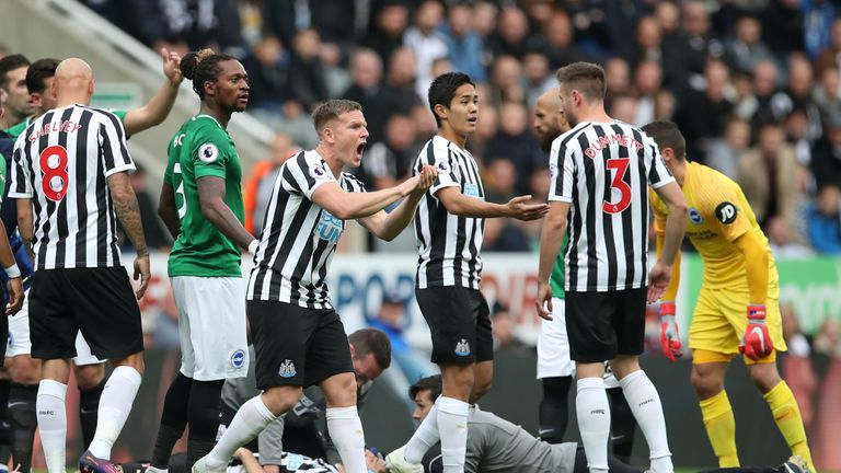 Newcastle lost seven of its 10 Premier League matches this season in St James & # 39; Park