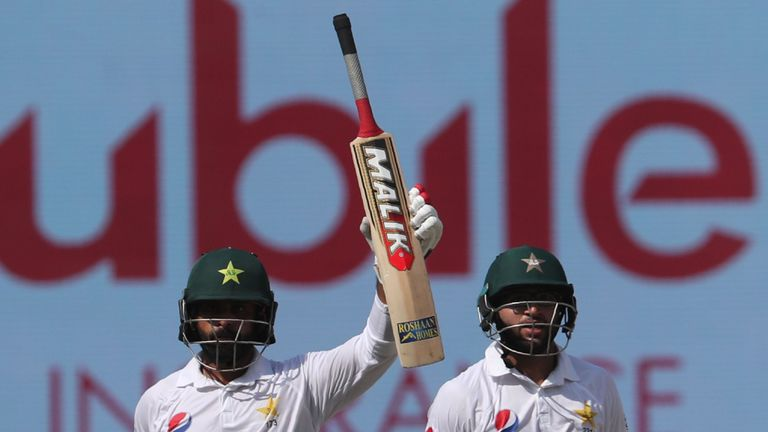 Mohammad Hafeez scored his first Test century since November 2015