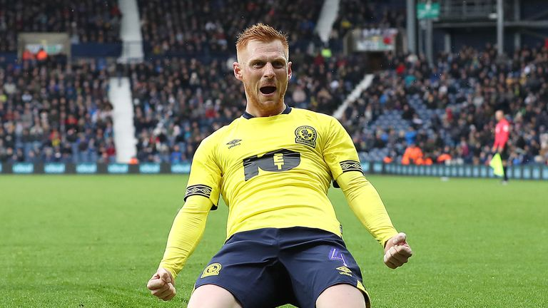 Blackburn Rovers' Harrison Reed celebrates scoring his teams goal