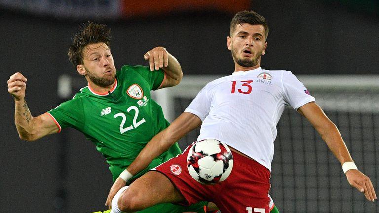 Midfielder Harry Arter returned for the Republic of Ireland against Denmark