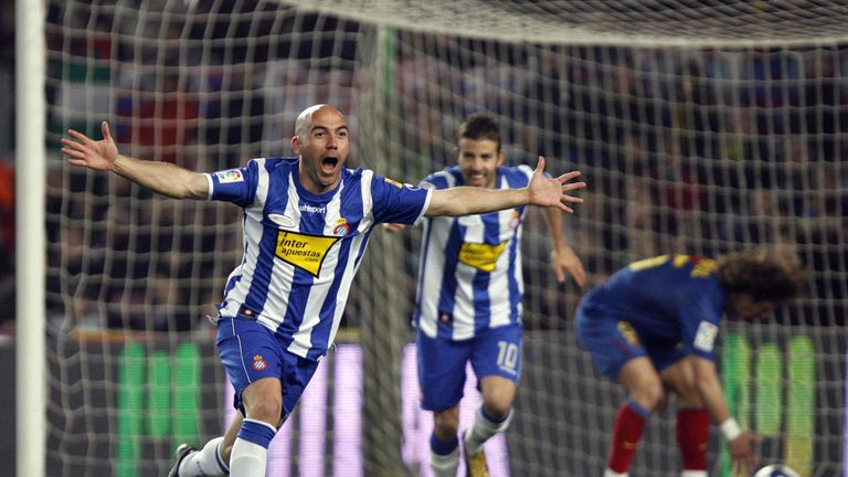 Ivan De La Pena scored in a famous win for Espanyol