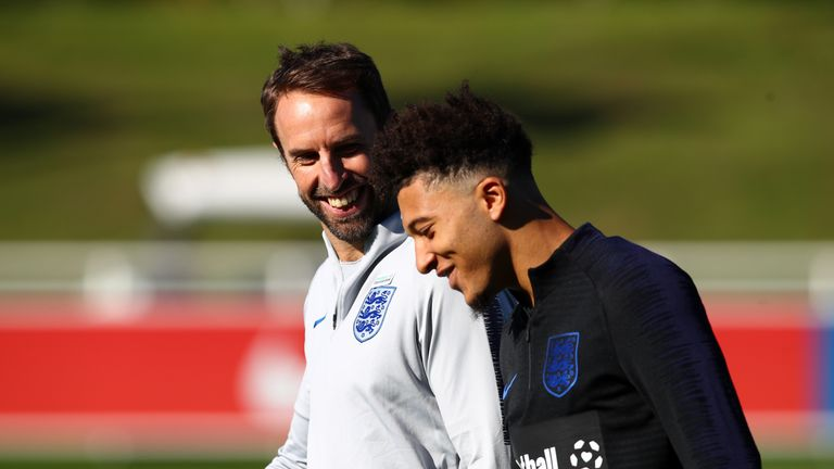 Jadon Sancho has been called up to the senior England squad under Gareth Southgate