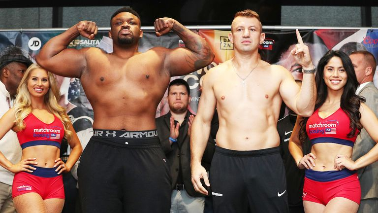 Jarrell Miller was far heavier than Tomasz Adamek