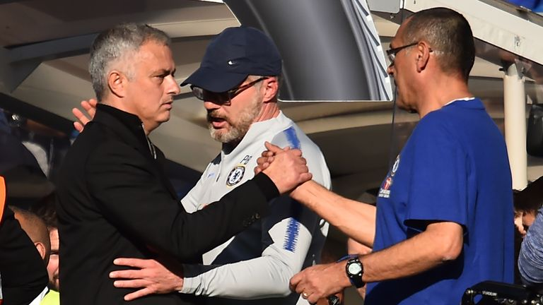 Sarri says he has a good relationship with Mourinho and would look forward to playing Tottenham if they are drawn together