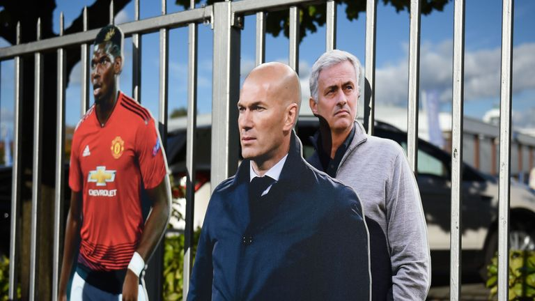 'Zinedine Zidane' appeared alongside 'Jose Mourinho' in Manchester