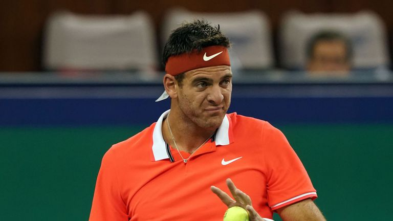Juan Martin Del Potro fractures kneecap, likely to end season early
