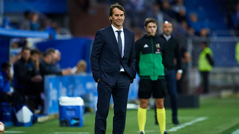 Julen Lopetegui is under pressure at Real Madrid