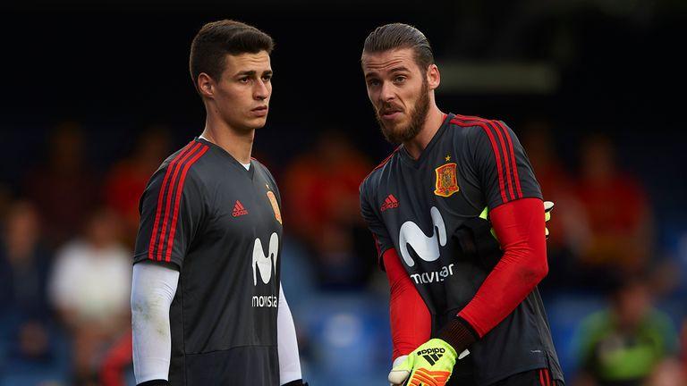 Kepa Arrizabalaga faces a battle with David de Gea for the Spain goalkeeper's spot