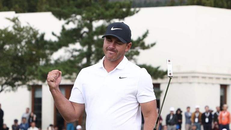 Koepka capped victory in style with an eagle at the 18th