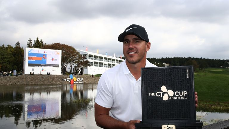 Koepka will now head to China for the WGC-HSBC Champions in Shanghai