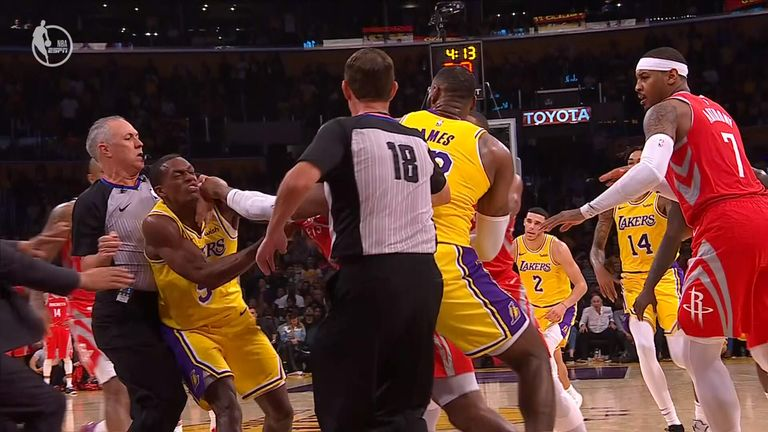lakers rockets fight