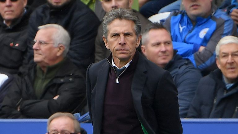 Leicester boss Claude Puel says the club is aiming for a Champions League return
