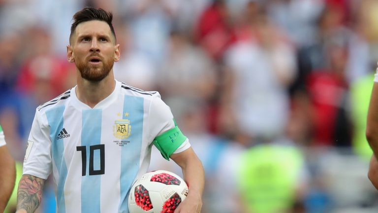 Argentina captain Lionel Messi was given a pep talk by Oprah Winfrey