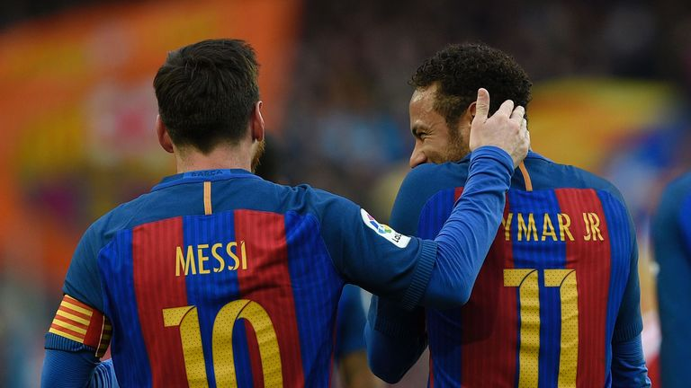 Neymar says Lionel Messi is his 'idol&#039
