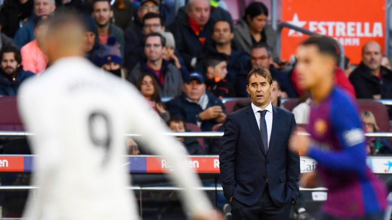 Lopetegui watched his side get thrashed 5-1 at the Nou Camp
