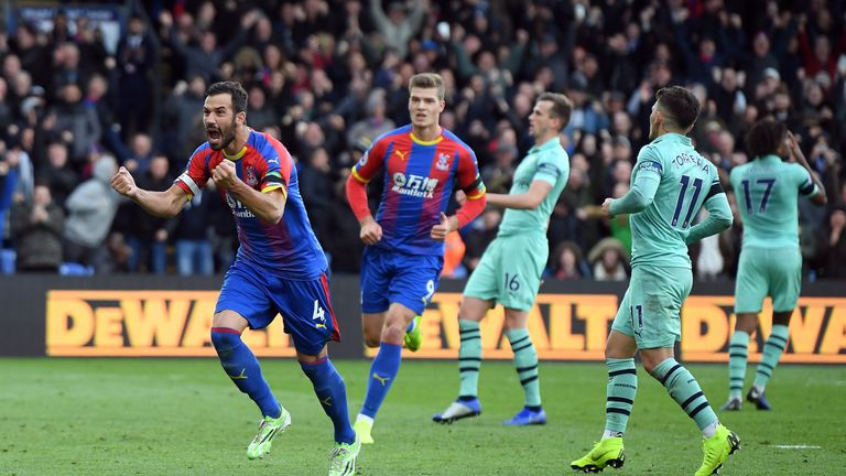 Luka Milivojevic scored two penalties in Palace's 2-2 draw against Crystal Palace