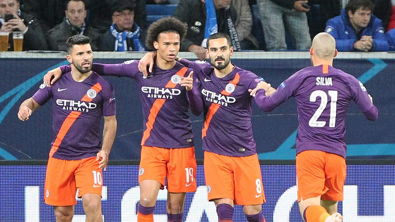 Manchester City edged Hoffenheim 2-1 in the reverse fixture