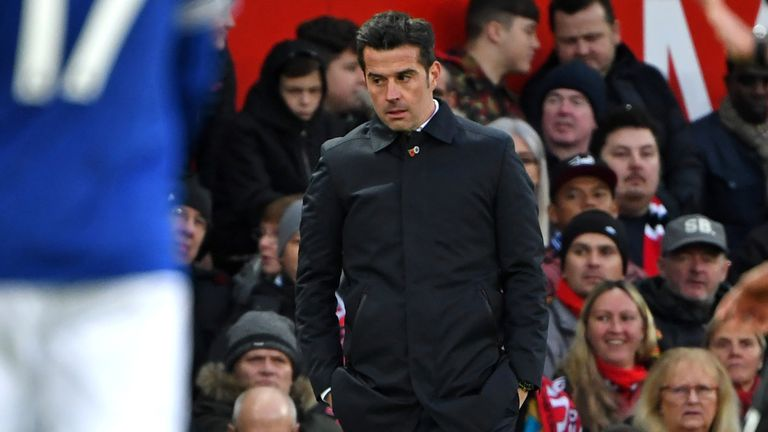 Marco Silva has been pleased with his players despite Everton's recent form