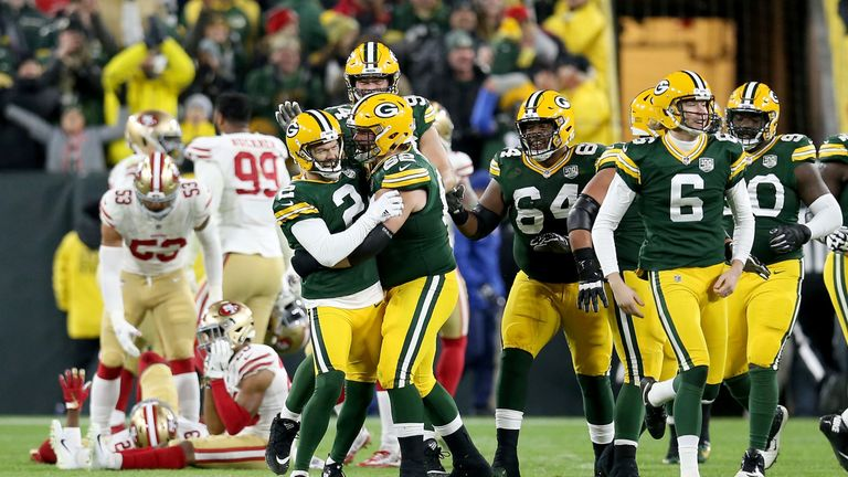 GREEN BAY, WI - OCTOBER 15:  at Lambeau Field on October 15, 2018 in Green Bay, Wisconsin. (Photo by Dylan Buell/Getty Images)