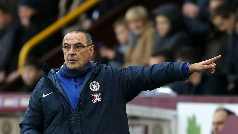 Maurizio Sarri's Chelsea have won three games out of three in the Europa League