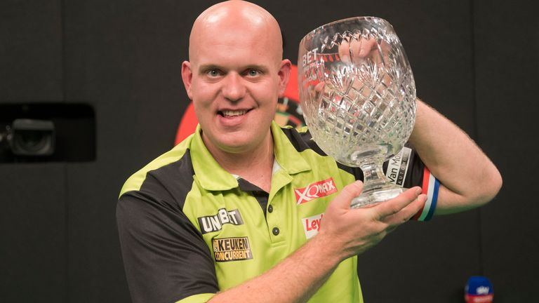 Michael van Gerwen is bidding to retain the World Grand Prix title for the first time