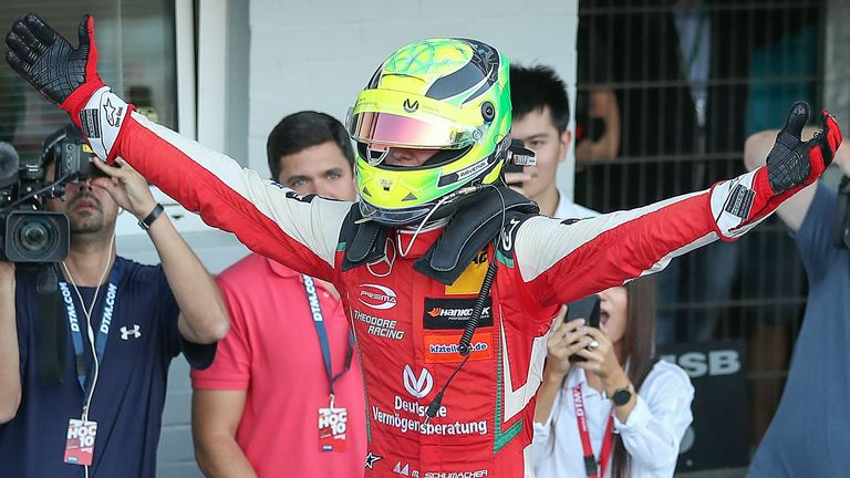 Mick Schumacher won the Formula 3 title last season and will compete in Formula 2 this year