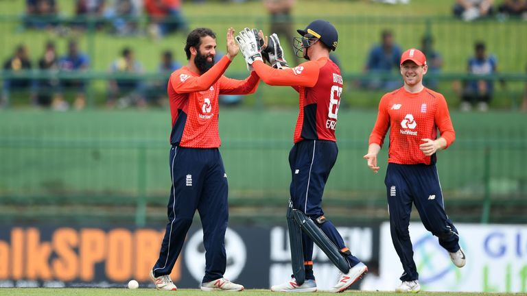 Moeen Ali picked up his first two wickets of the ODI series in 18-run DLS win on Saturday in Kandy