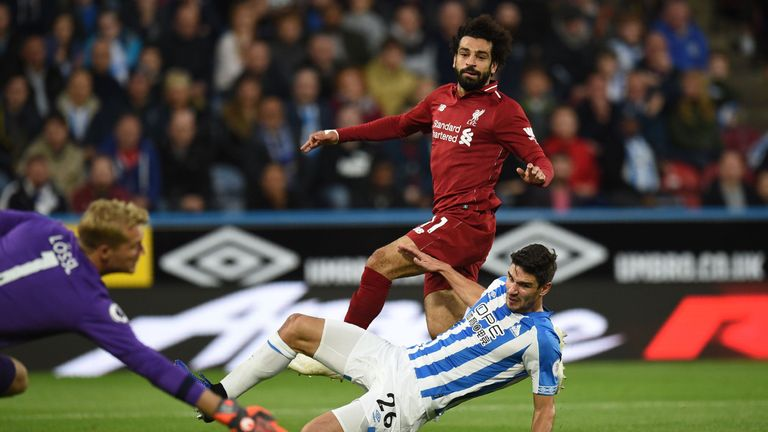 Mohamed Salah scored his first goal in five games for Liverpool