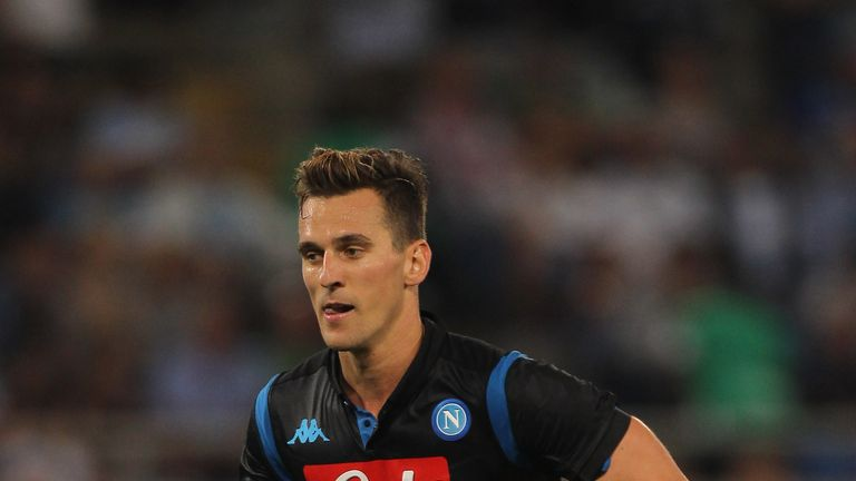Arkadiusz Milik started in Wednesday night's Champion's League game