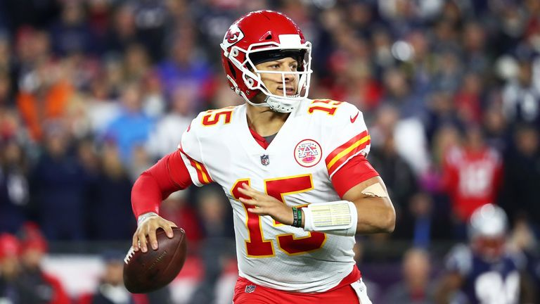 Patrick Mahomes has thrown 22 touchdowns so far this season, which leads the NFL