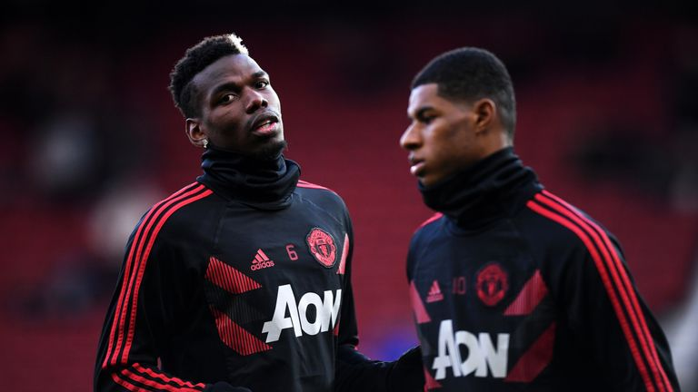 Will Paul Pogba (left) and Marcus Rashford be among your Elite Players in this weekend's Manchester derby?