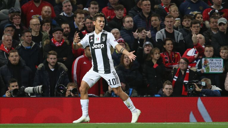 Paulo Dybala is Juventus' top scorer in the Champions League this season