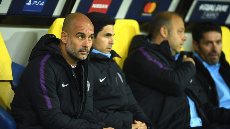 Pep Guardiola's men are top of Group F following two wins from their three games