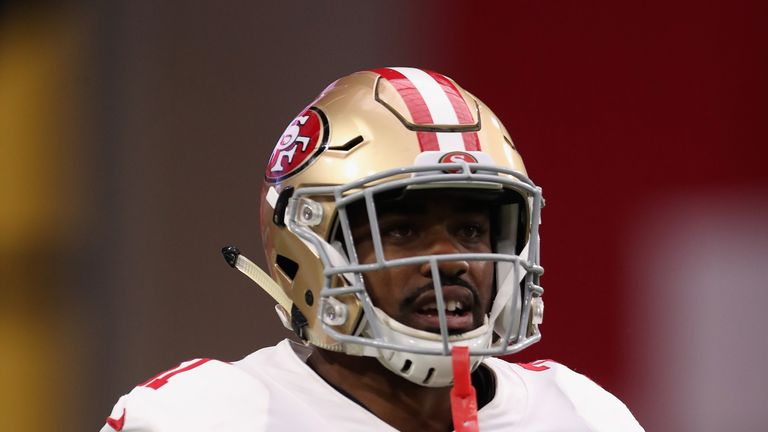 Running back Raheem Mostert could be a sleeper hit for the 49ers in Week Eight