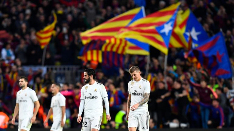 Real Madrid are languishing in ninth position after a third straight league defeat