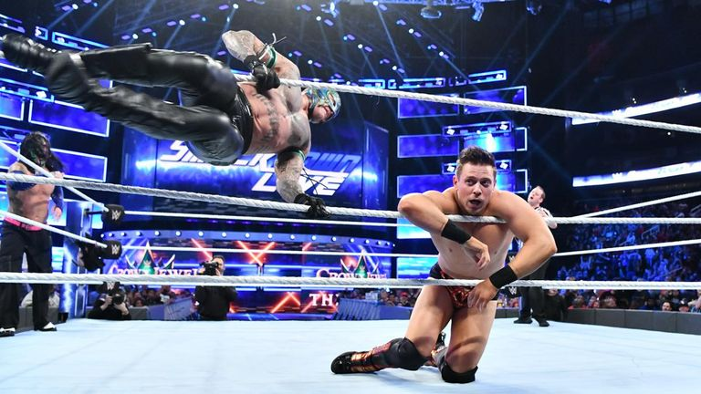 The Miz took a 619 from Rey Mysterio during a tag match which came after a stark warning from Shane McMahon