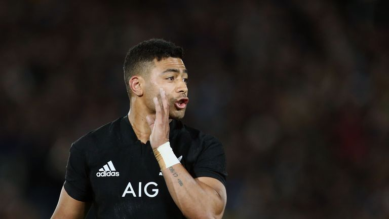 Richie Mo'unga of the All Blacks