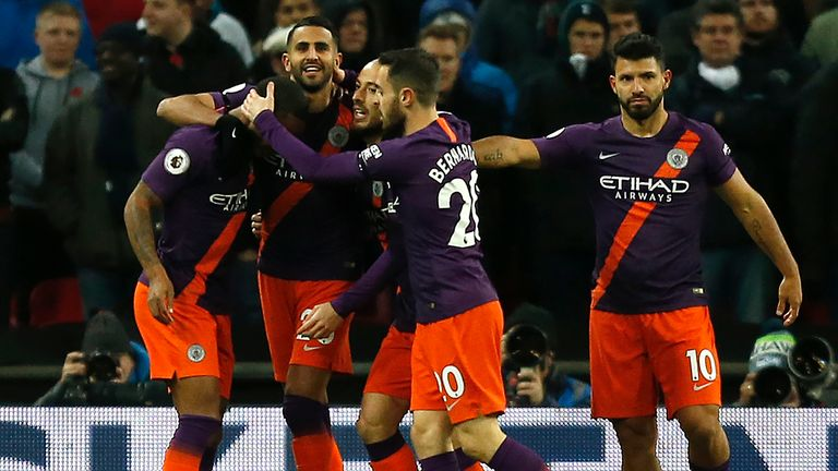 Manchester City are currently top of the Premier League