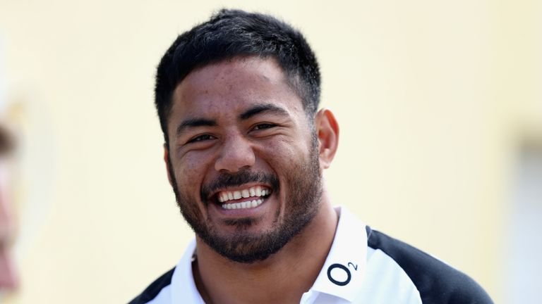 Manu Tuillagi was all-smiles during the England training camp in Vilamoura, Portugal.