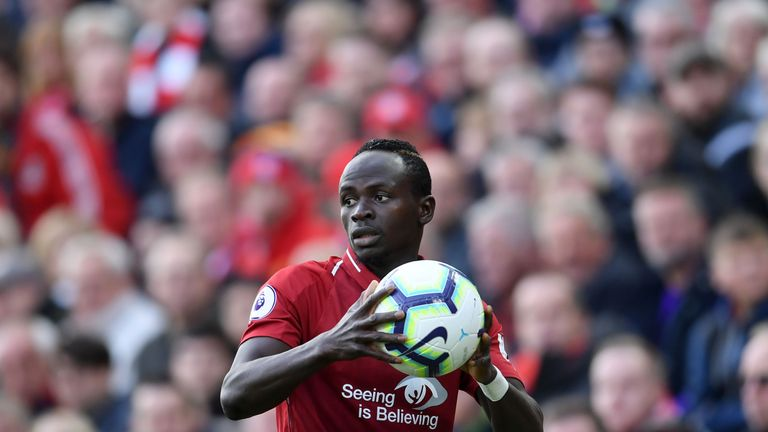 Sadio Mane has scored four goals in 11 appearances for Liverpool this season