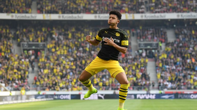 Jadon Sancho netted for Dortmund