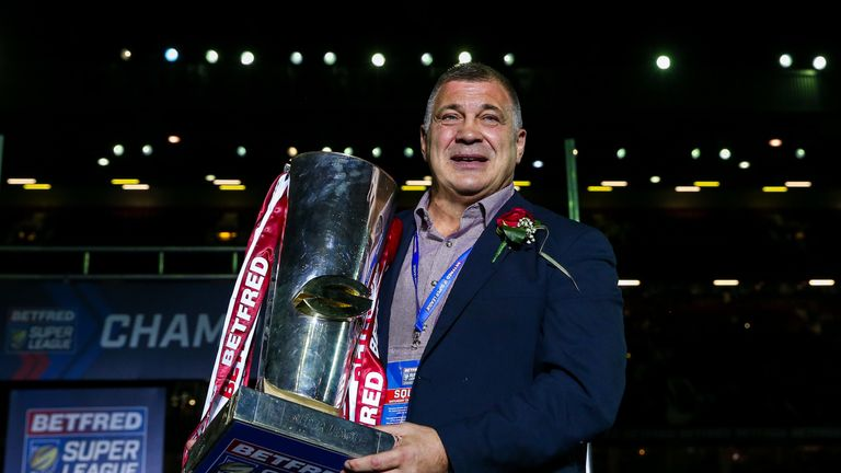 Wane with the 2018 Super League trophy