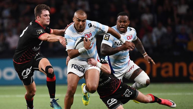 Simon Zebo on the attack for Racing 92
