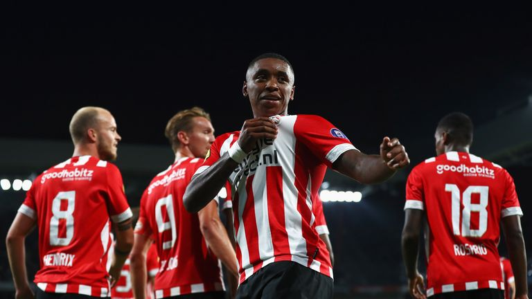 Steven Bergwijn scored for PSV in their 2-1 defeat