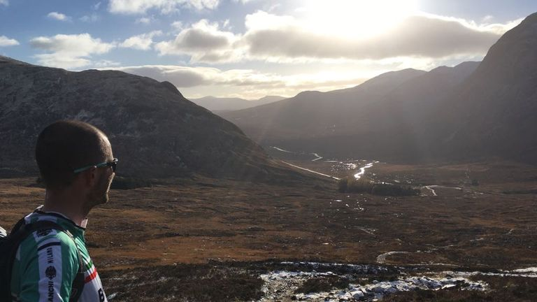 The Scottish FA's Steven Harris completed his Mamores Mountain Marathon challenge at the weekend