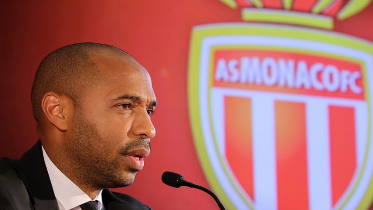 Thierry Henry gives a press conference as new head coach of Monaco