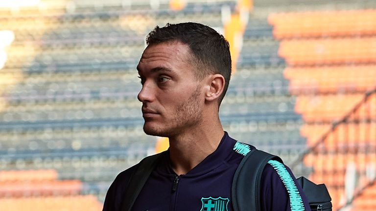 Barcelona defender Thomas Vermaelen was injured while on international duty with Belgium